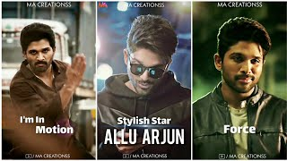 Allu Arjun - The Stylish Star Whatsapp Status